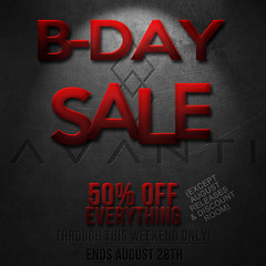 Avanti Birthday Sale 2017