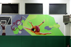 School gym - detail 1: rhythmic gymnastics - by WIZ ART
