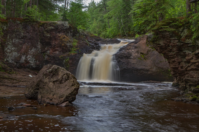 Base of Upper Amnicon Falls