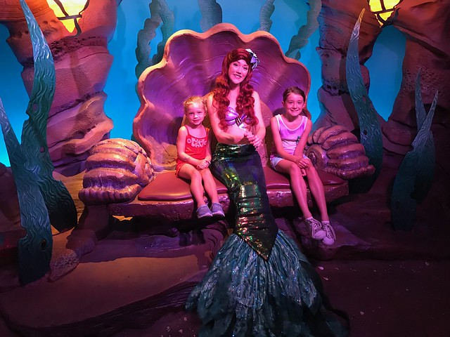 Disney day 2 meet Ariel at magic kingdom