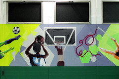 School gym - detail 2: basketball - by WIZ ART