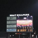 Final Tally at BB&T Ballpark -- Winston-Salem, NC, August 1, 2017