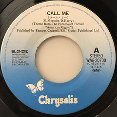 BLONDIE:CALL ME(LABEL SIDE-A)