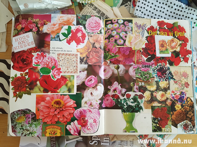 Finished Spread: How to make your Art Journal Page Bloom - tutorial by iHanna