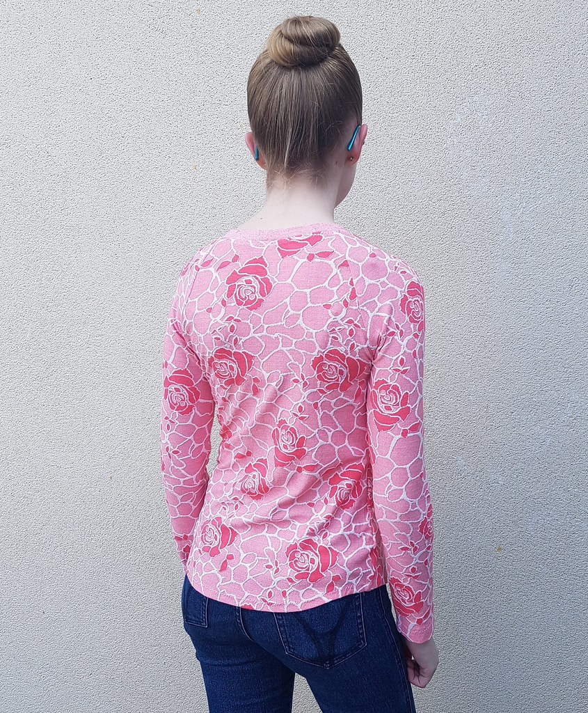 Hey June Camden Raglan in jacquard knit from Super Cheap Fabrics