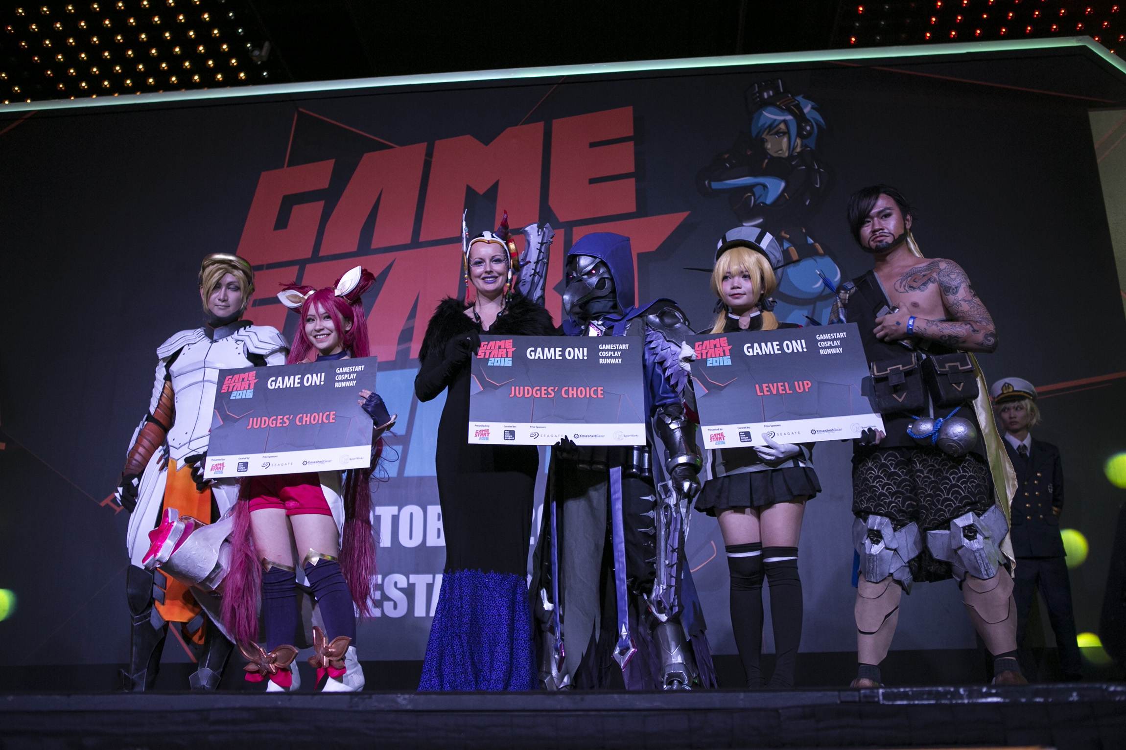 Winners of the Game On! Cosplay Runway_