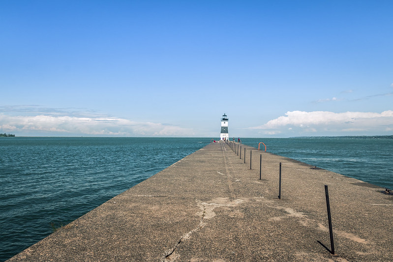 lighthouse in the bay
