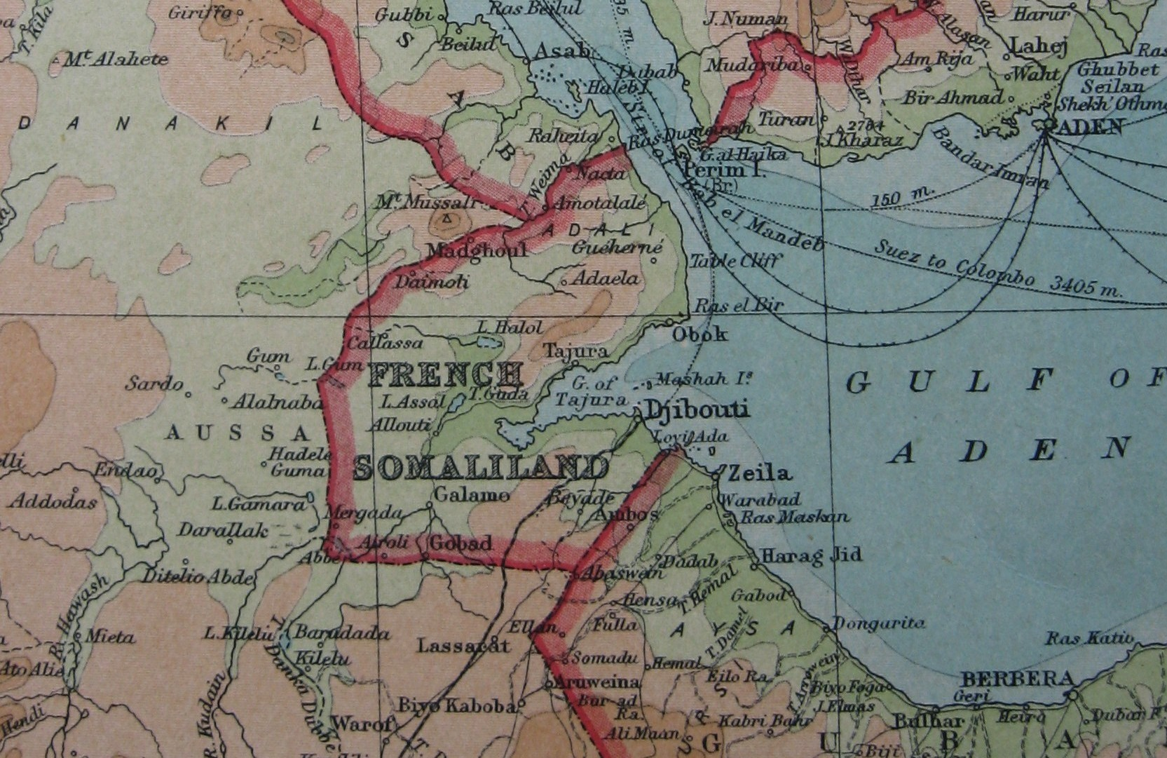 Map of French Somaliland, 1922