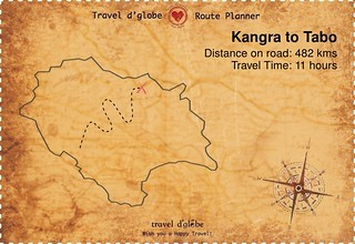 Map from Kangra to Tabo