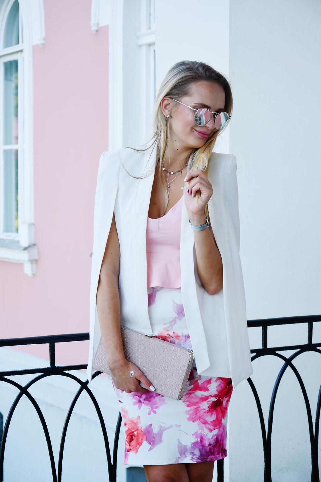 Cape style blazer