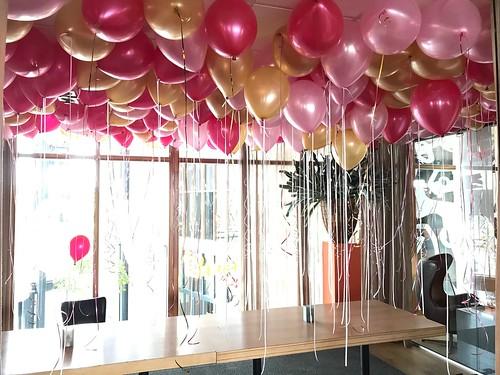 Heliumballonnen Ballonnenplafond Restaurant Vandaag Utrecht