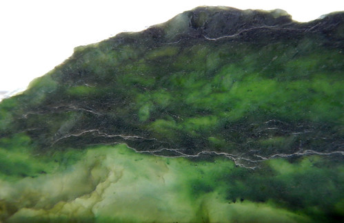 A slab of green jade from northern BC