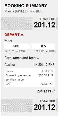 Manila to Iloilo July 3, 2018 AirAsia Promo