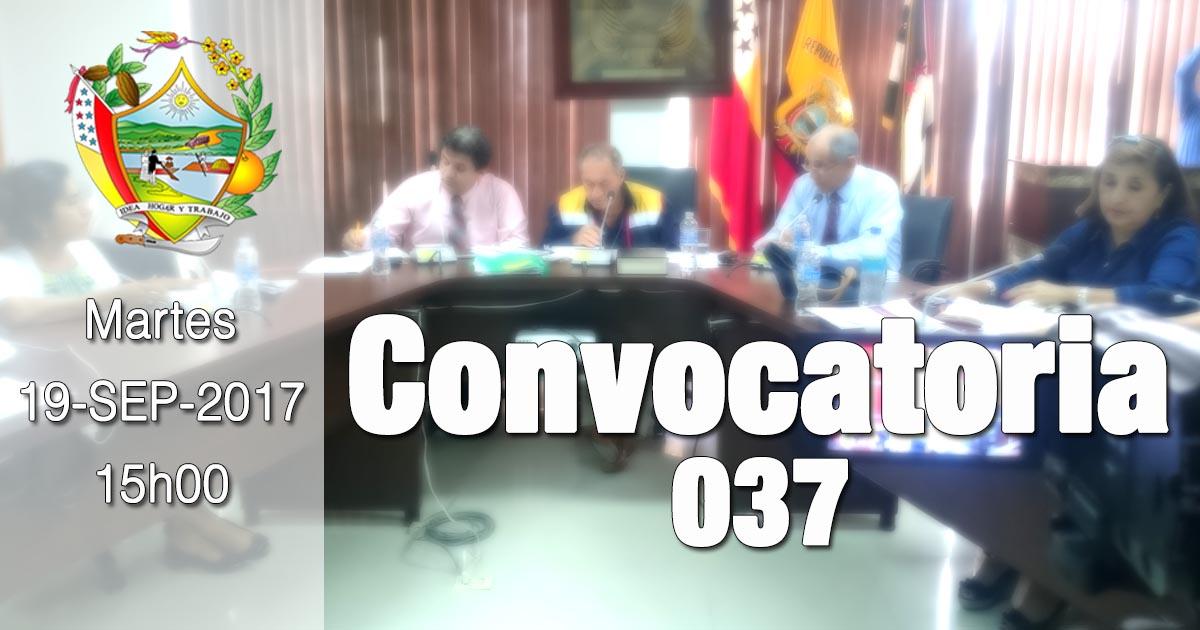 Convocatoria 037