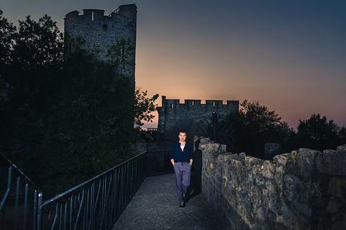 crépuscule dans le château