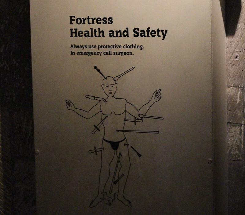Warning sign at Tower of London