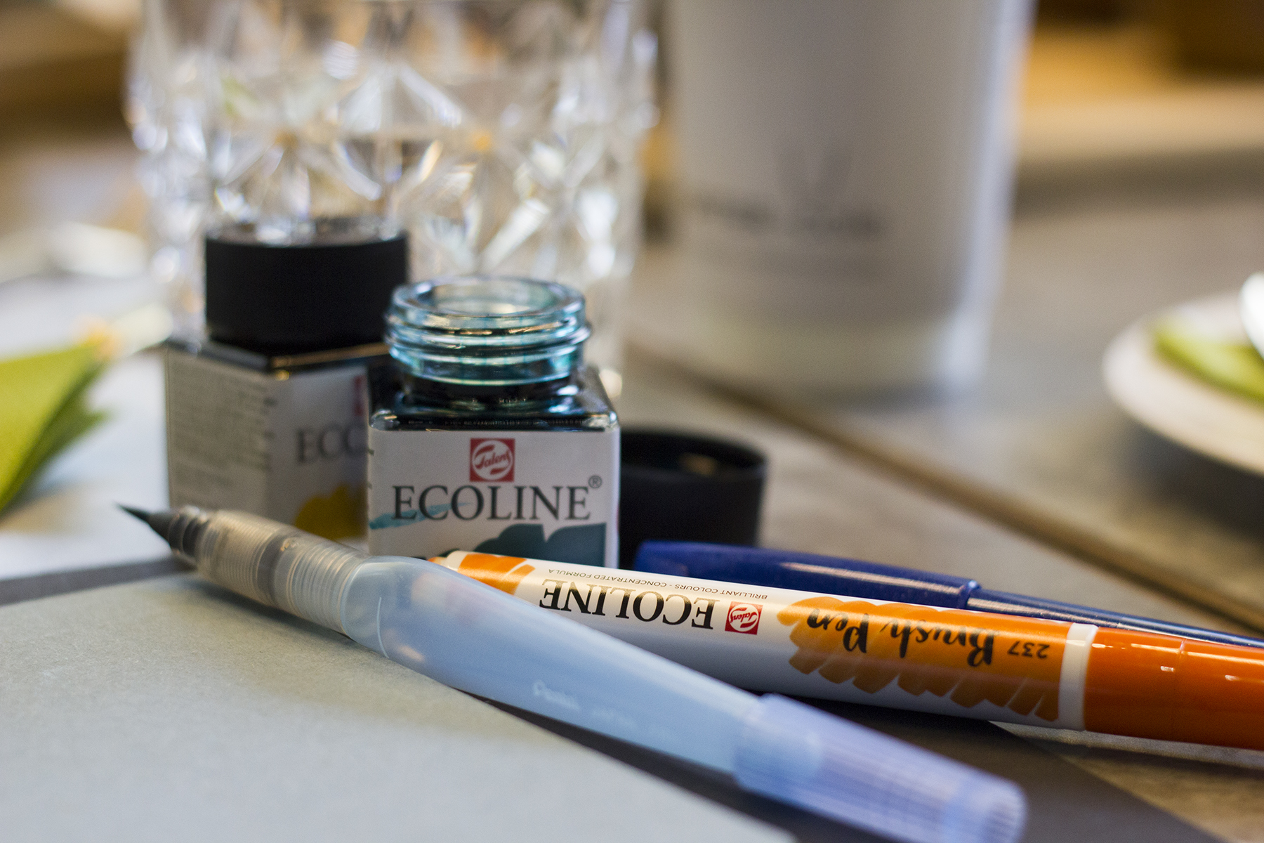 Ecoline Inks - Cult Pens - Brush Lettering Workshop Manchester