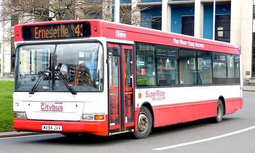 WA54 J WA64 JVV 'Plymouth citybus' No. 72 'SuperRider' Dennis Dart SLF / Plaxton Pointer on 'Dennis Basford's railsroadsrunways.blogspot.co.uk' VV 72