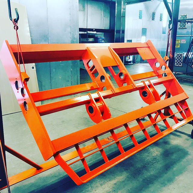 Powder coated industrial part. #orangeisthenewblack #powdercoating