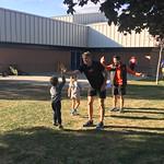 Josh and Landon high 5 (Sept 29, 2017)