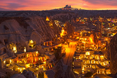 Red evening of Göreme