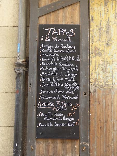 tapas à la Provençale