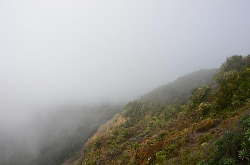 Nebel über den Gipfeln von Gomera