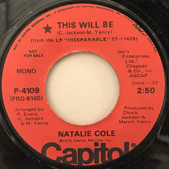 NATALIE COLE:THIS WILL BE(LABEL SIDE-A)