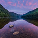 Sunrise at Glendalough Upper Lake, County Wicklow, Ireland.
