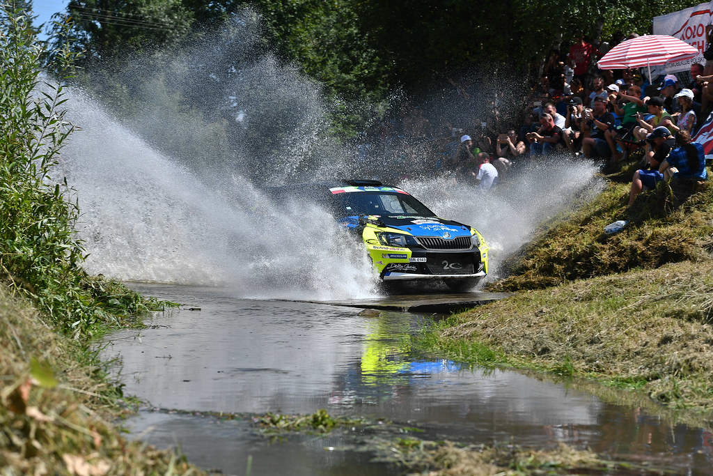12 MICHEL Sylvain (FRA) DEGOUT jerome (FRA) Skoda Fabia R5 action during the 2017 European Rally Championship Rally Rzeszowski in Poland from August 4 to 6 - Photo Wilfried Marcon / DPPI