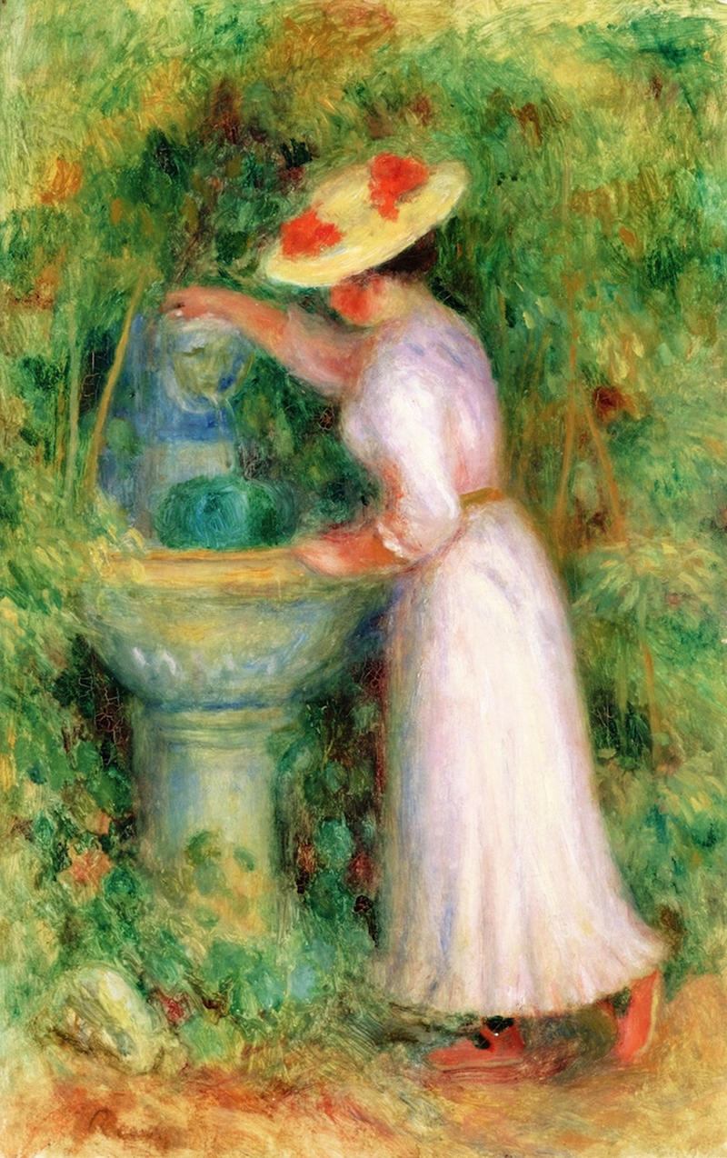 The Fountain by Pierre Auguste Renoir, 1885
