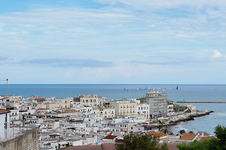 View to the Vieste city lower areas