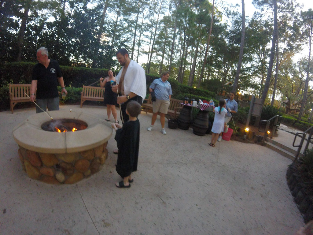 Roasting marshmallows at Port Orleans Riverside
