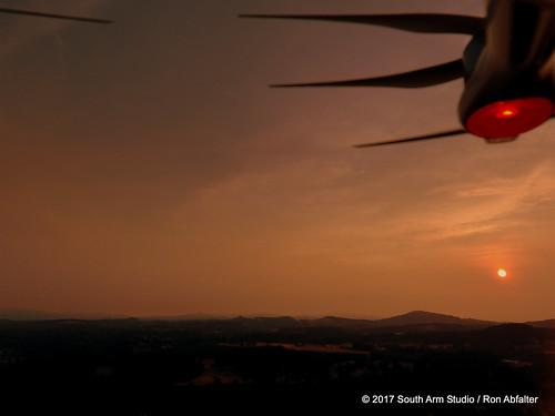 sunset drone flight winlock washington pacficnorthwest southarmstudio