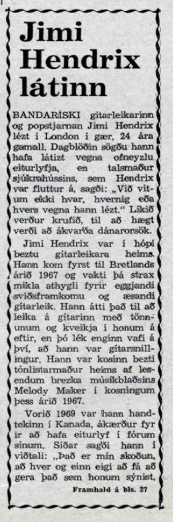 Morgunblaðið (MORNING PAPER) (ICELAND) SEPTEMBER 19, 1970  1