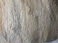 Assorted petroglyphs probably depict a scene