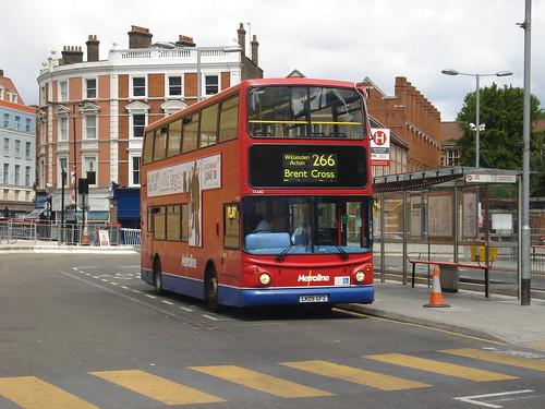 Metroline TA642 on Route 266, Hammersmith, 19/06/2010