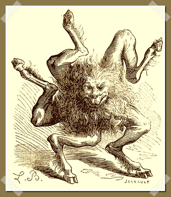 Buer as depicted in Collin de Plancy's Dictionnaire Infernal, 1863 edition.