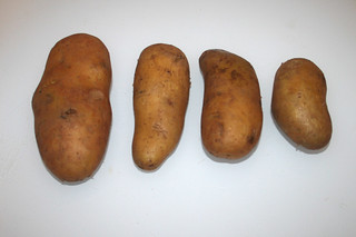 01 - Zutat Pellkartoffeln vom Vortag / Ingredient boiled potatoes from yesterday