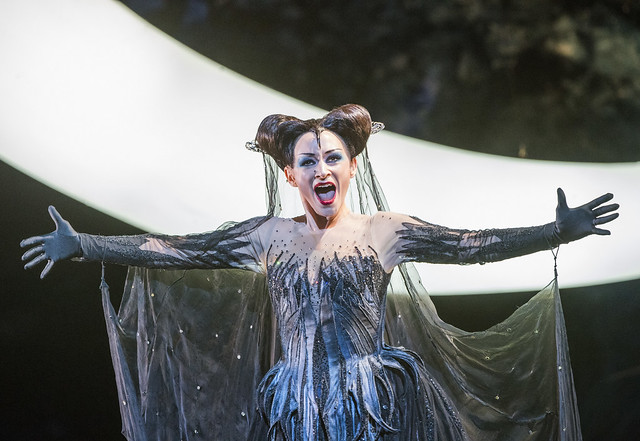 Sabine Devieilhe as Queen of the Night In Die Zauberflöte, The Royal Opera Season 2017/18 © ROH 2017. Photograph by Tristram Kenton.