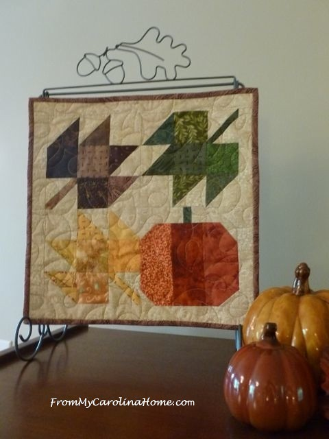Autumn Jubilee Mini Quilt at From My Carolina Home