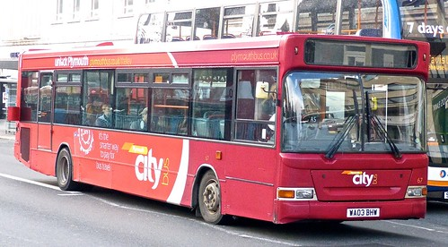 WA03 BHW 'Plymouth citybus' No. 67 'city' Dennis Dart SLF / Plaxton Pointer on 'Dennis Basford's railsroadsrunways.blogspot.co.uk'
