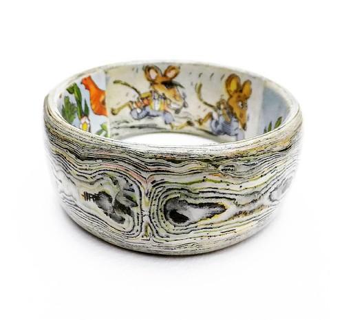 Town Mouse Country Mouse Paper Bangle Bracelet by Liz Hamman