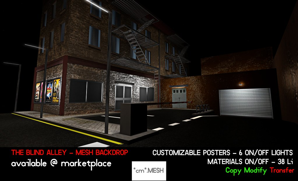 The Blind Alley - Mesh Backdrop - SecondLifeHub.com