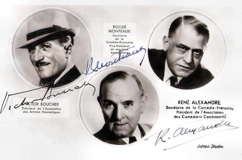 Victor Boucher, Roger Monteaux, René Alexandre