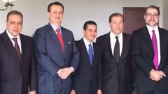 14 06 2016 - Paulo Abi-Ackel, Gilberto Kassab, Marcos Jorge de Lima, Joseph Sayah e Dias Toffoli