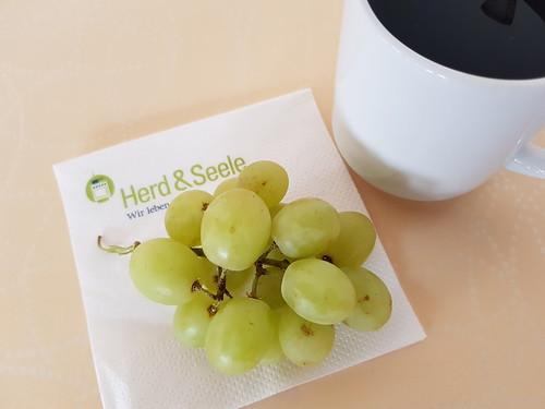 Weintrauben zum Kaffee