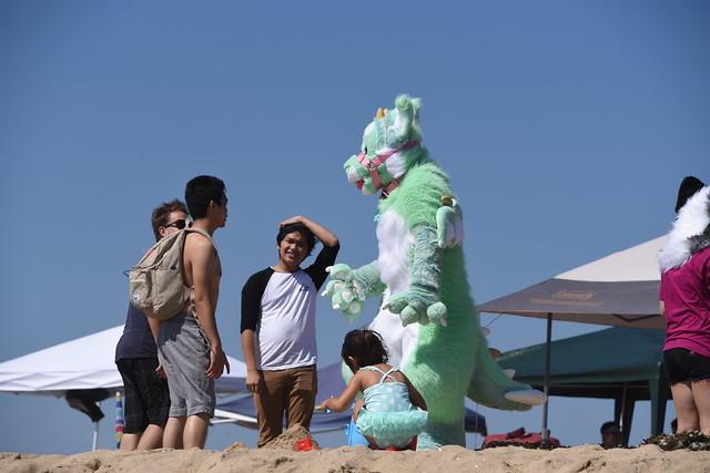 Costumed Person at Beach, Nikon D810, AF-S Nikkor 28-300mm f/3.5-5.6G ED VR