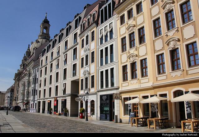 View along Rampische Straße, Dresden, Germany