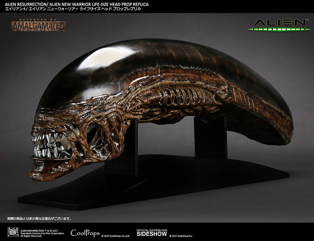 CoolProps 異形4:浴火重生【新戰士異形】Alien Resurrection Alien New Warrior 1:1 比例 頭像道具複製品